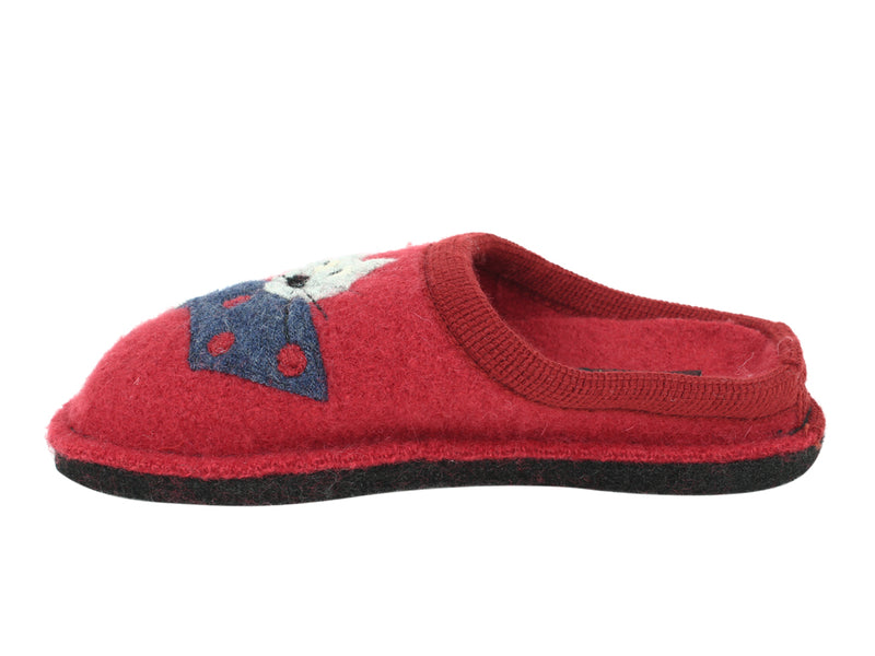 Haflingher Slippers Flair Cucho Cat Paprika side view