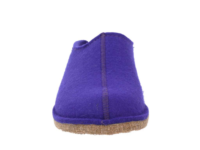Haflinger Slippers Smily Violet front view