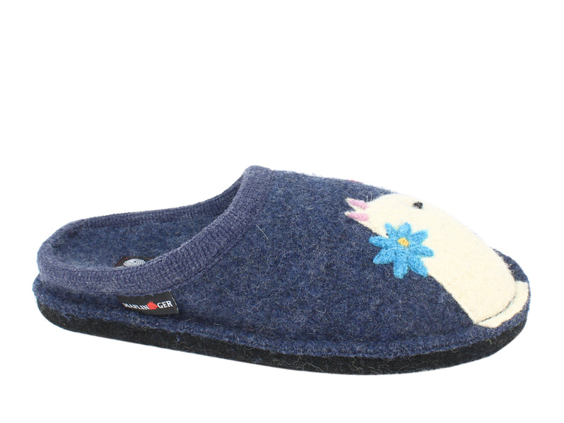 Haflinger Slippers Flair Cats Love Jeans side view