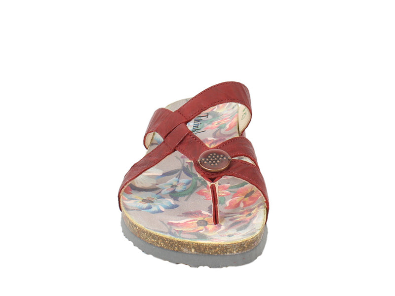 Think Sandals Julia 86333-73 Cherry front view