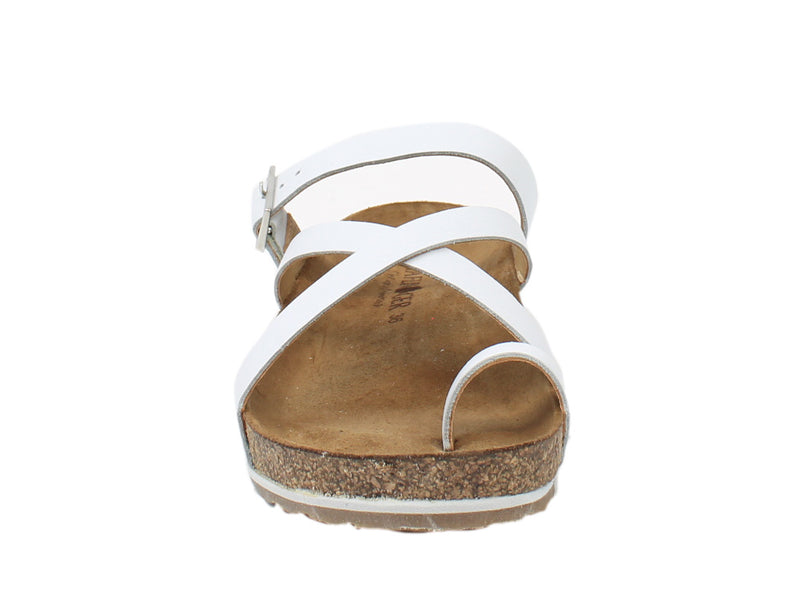 Haflinger Sandals Luna White front view