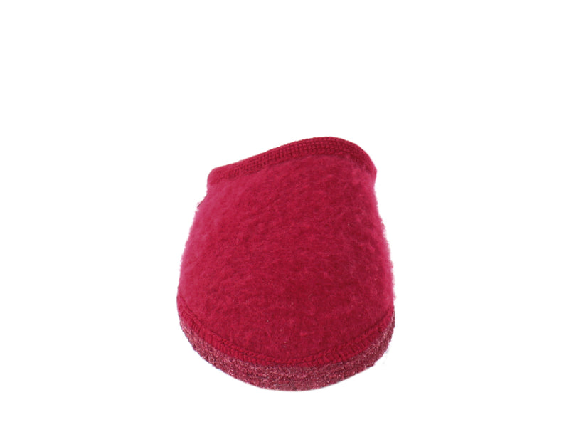 Haflinger Slippers Cashmere Red front view