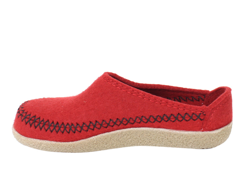 Haflinger Slippers Blizzard Credo Rubin side view