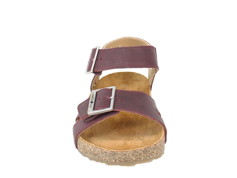 Haflinger Sandals Rebecca Bordeaux front view