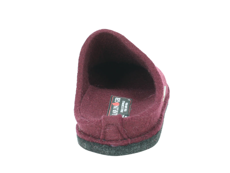 Haflinger Slippers Flair Soft Bordeaux back view