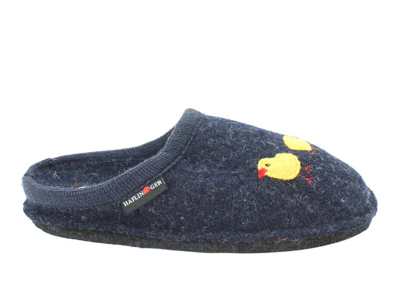 Haflinger Slippers Flair Hen Blue side view