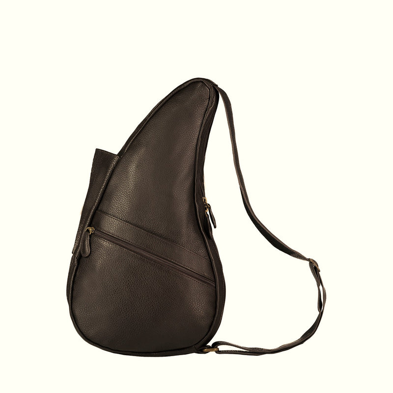 Healthy Back Bag Leather Coffee Small left side