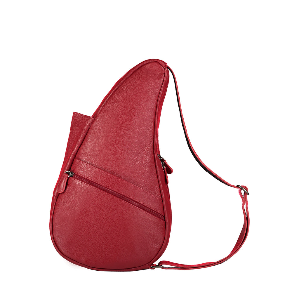 Healthy Back Bag Leather Chilli Red Small left side