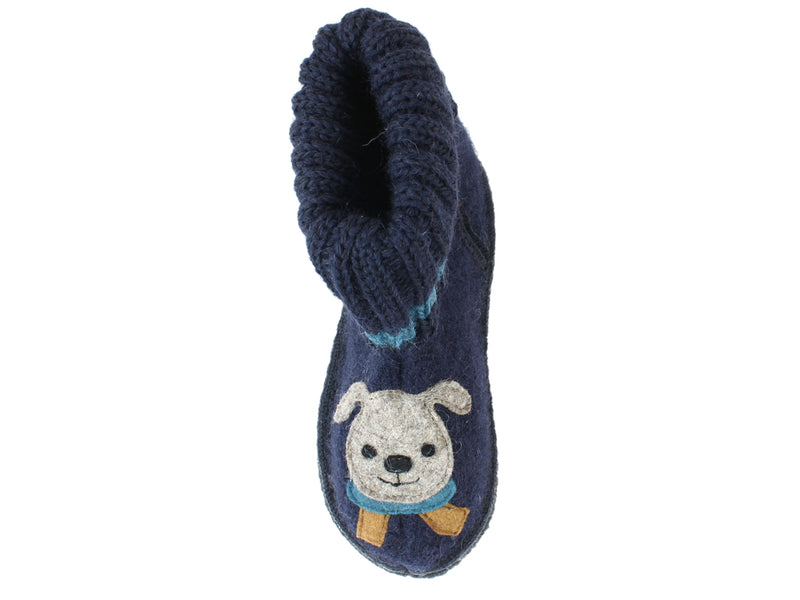 Haflinger Children's slippers Kisses ocean right foot