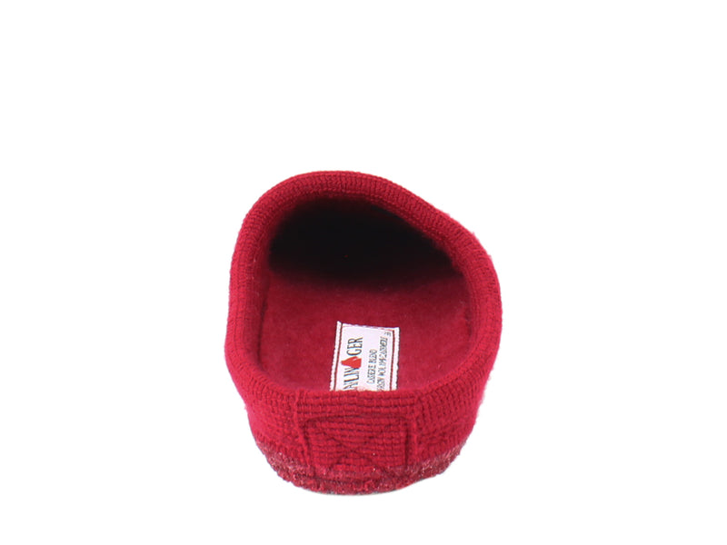 Haflinger Slippers Cashmere Red back view