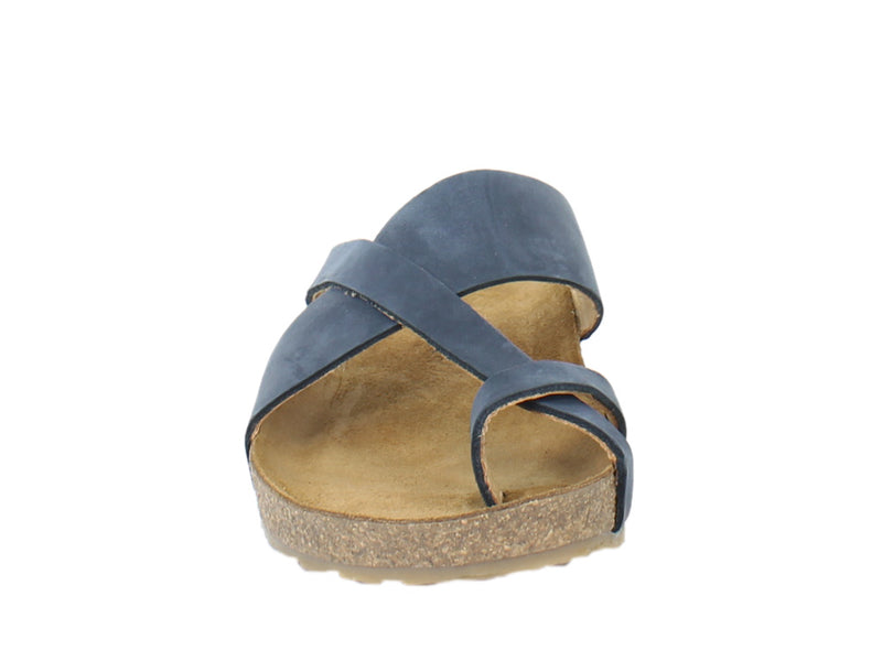 Haflinger Sandals Jacks Navy front view