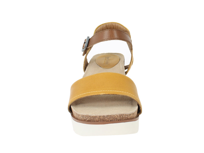 Josef Seibel Sandals Clea 01 Gelb Yellow front view