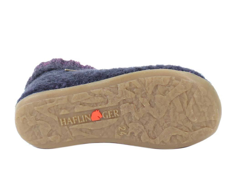 Haflinger Children's slippers Iris Lavender sole view
