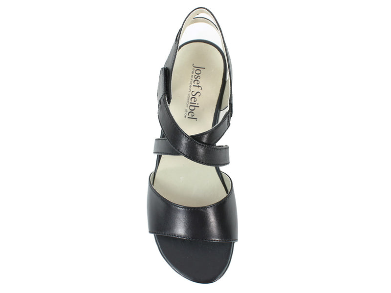 Josef Seibel Women Sandals Fabia 17 Black top view