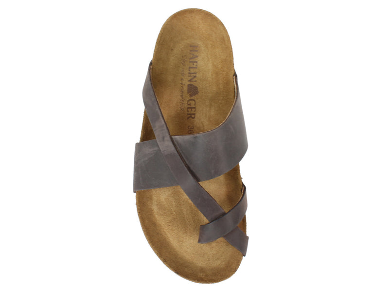 Haflinger Sandals Jack Brown top view