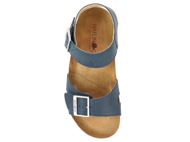 Haflinger Sandals Rebecca Navy top view