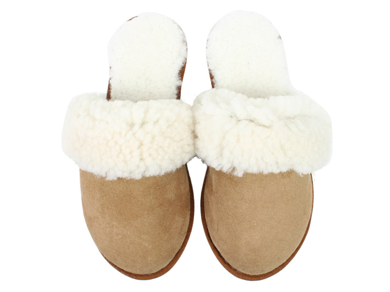 Celtic & Co Slippers Sheepskin Turnback Spice upper view