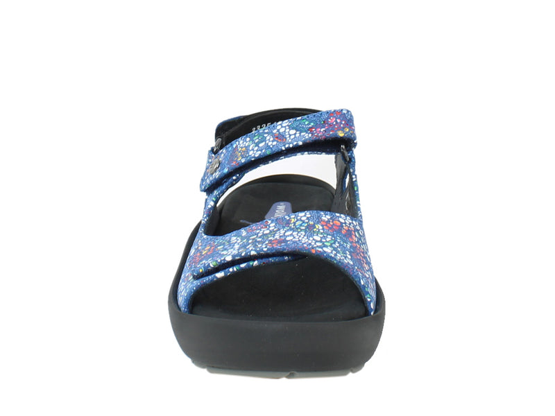 Wolky Women Sandals Rio Mosaic Royal Blue front view