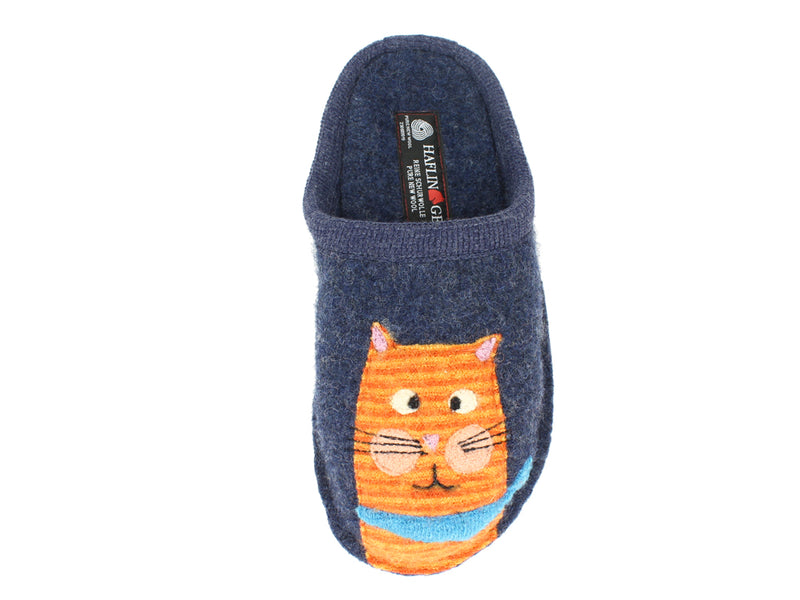 Haflinger Slippers Flair Cats Love Jeans left foot
