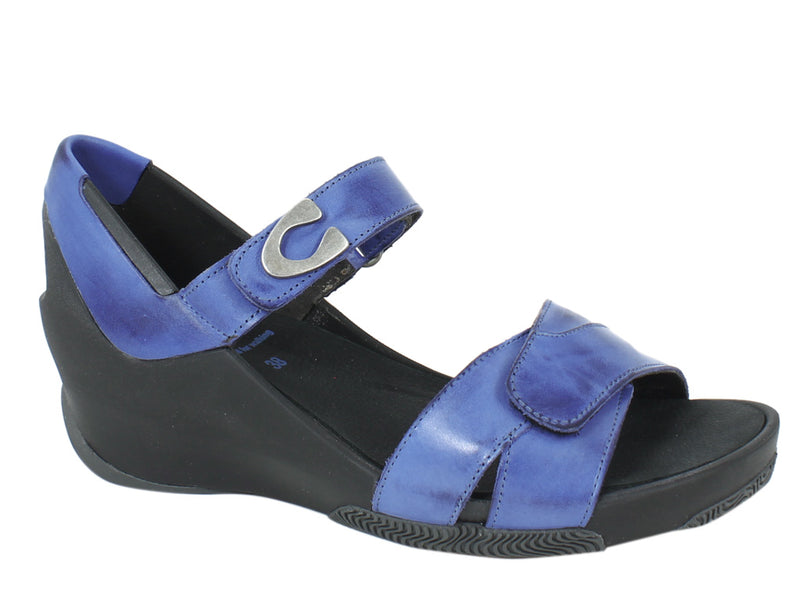 Wolky Women Sandals Epoch Royal Blue side view