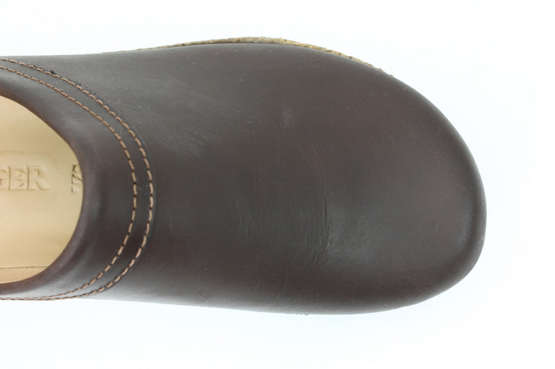 Haflinger Leather Clogs Malmo Brown (Second Quality)