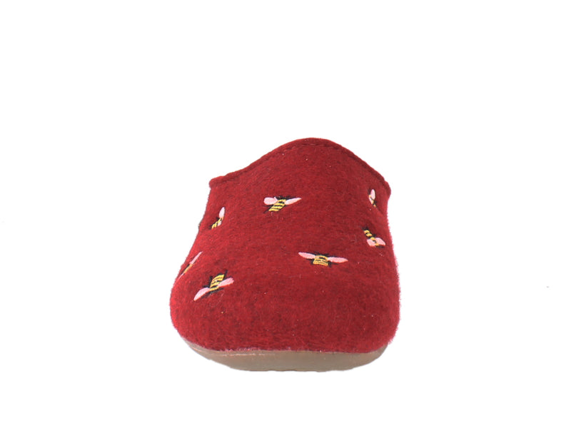 Haflinger Slippers Everest Bees Rubin front view