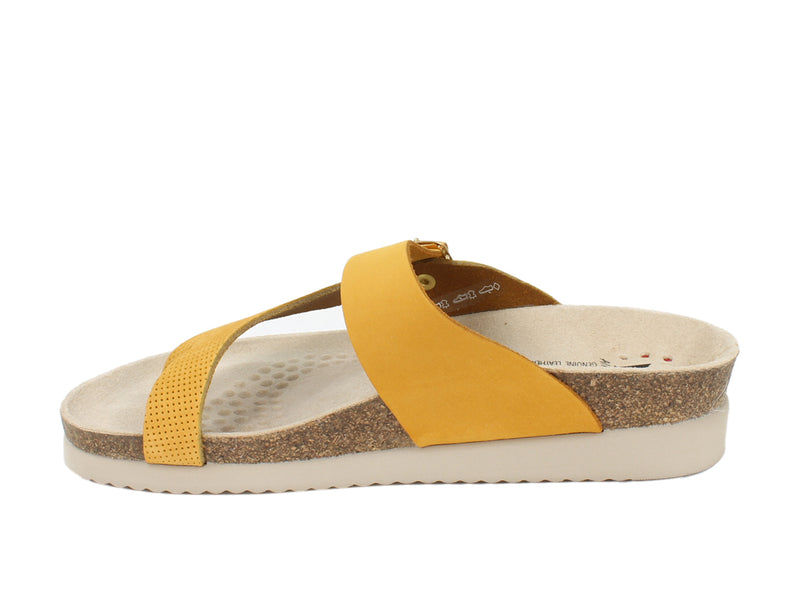 Mephisto Women Sandals Helen Mustard side view