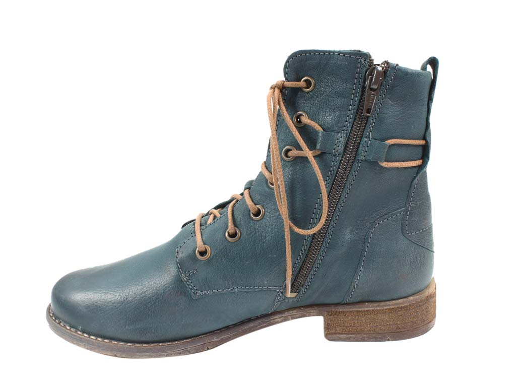 Josef Seibel Boots  Sienna 63 Petrol in side view