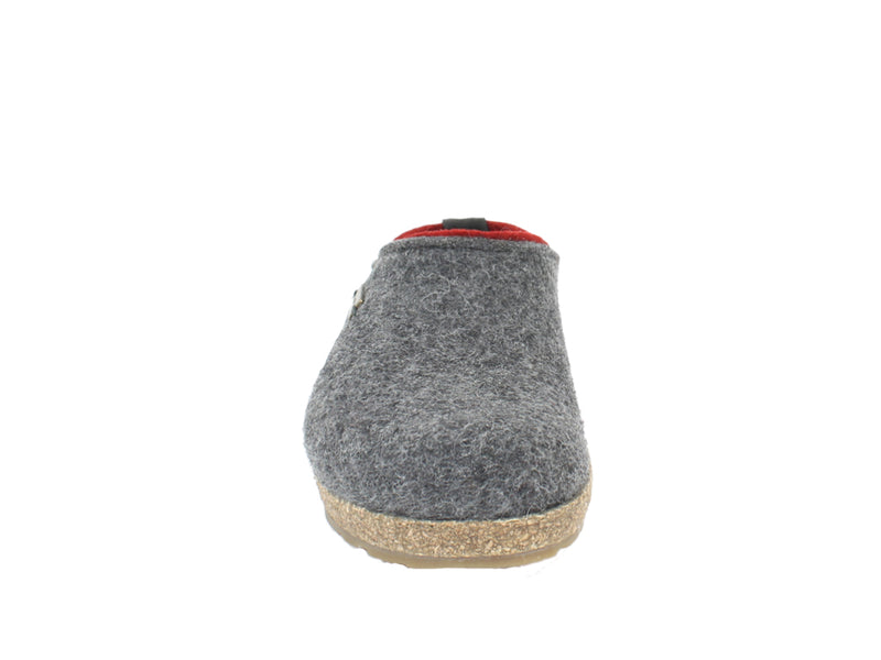 Haflinger Felt Clogs Grizzly Kris Anthracite front view