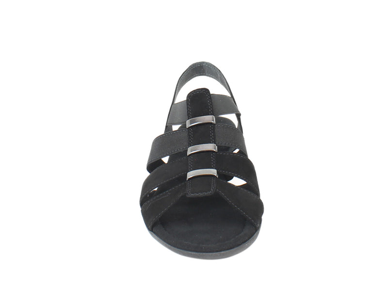 Gabor Women Sandals Joan 42.472 Black front view