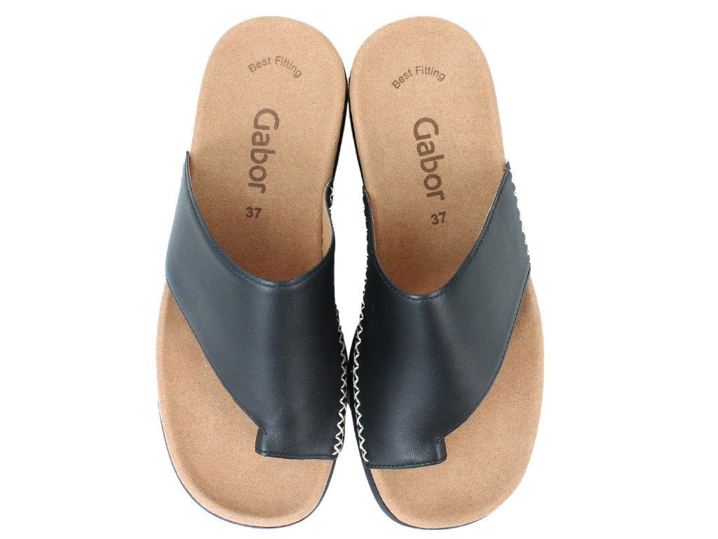 Gabor Sandals Lanzarote 03.700 Black upper view
