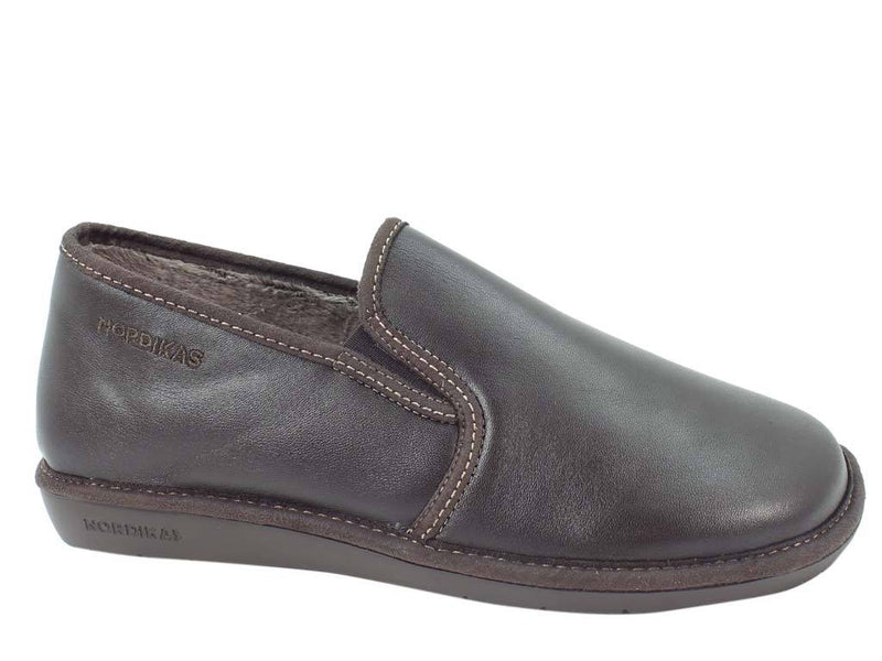 Nordikas Men Slippers Closed Moka side view