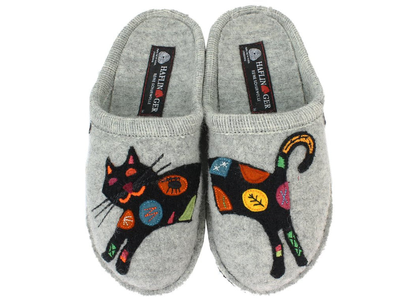 Haflinger Slippers Flair Sassy Grey upper view