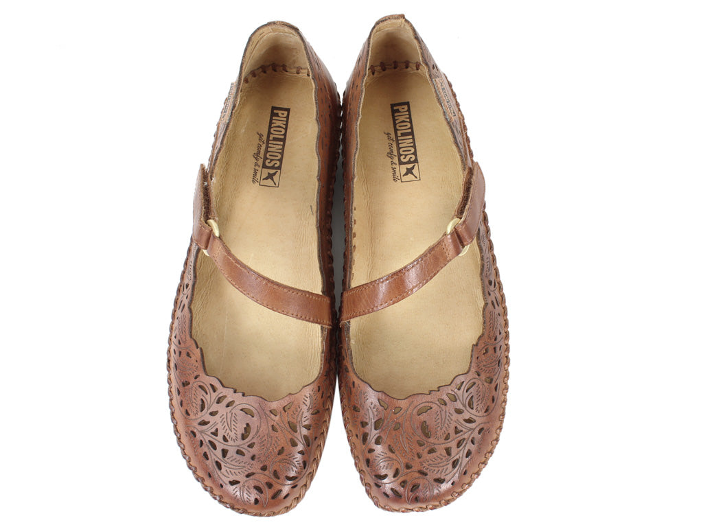 Pikolinos Shoes Vallarta 655-0898 Brandy upper view