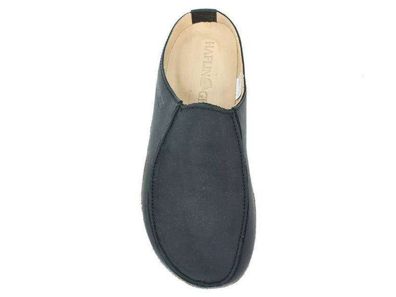 Haflinger Leather Clogs Kolding Black top view