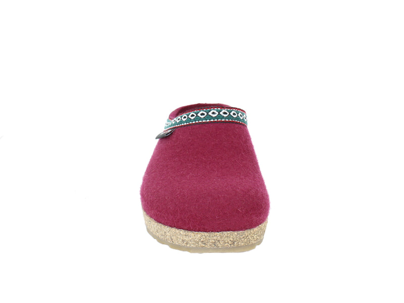 Haflinger Felt Clogs Grizzly Franzl Port front view