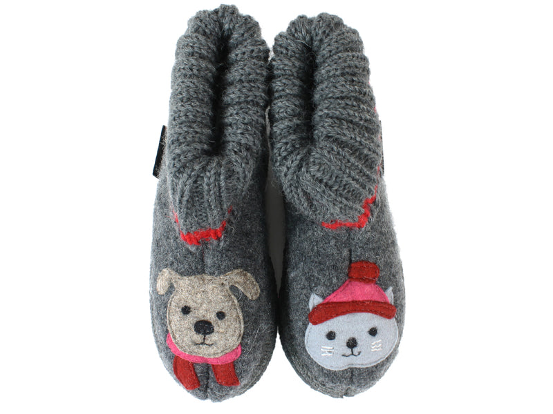 Haflinger Children's slippers Kisses Anthracite UPPERS