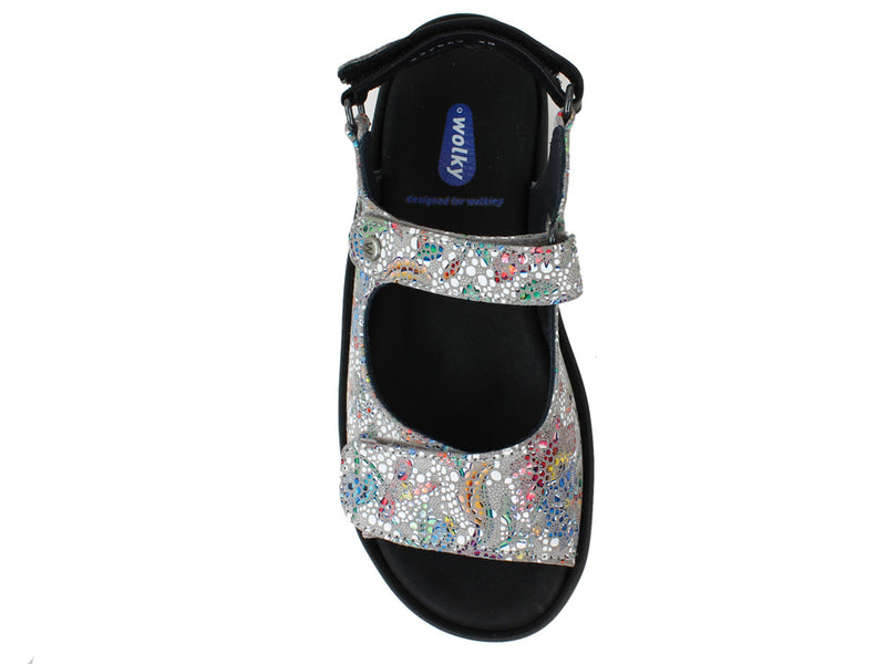 Wolky Women Sandals Rio Mosaic Taupe top view