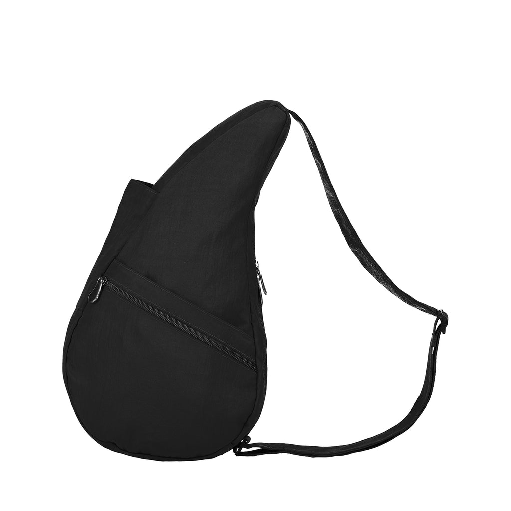 Healthy Back Bag Textured Nylon- Black Small left side