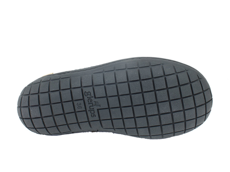 Glerups Slippers Charcoal Rubber Sole sole view