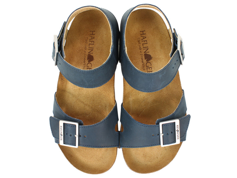 Haflinger Sandals Rebecca Navy upper view