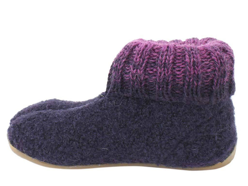 Haflinger Children's slippers Iris Lavender side view