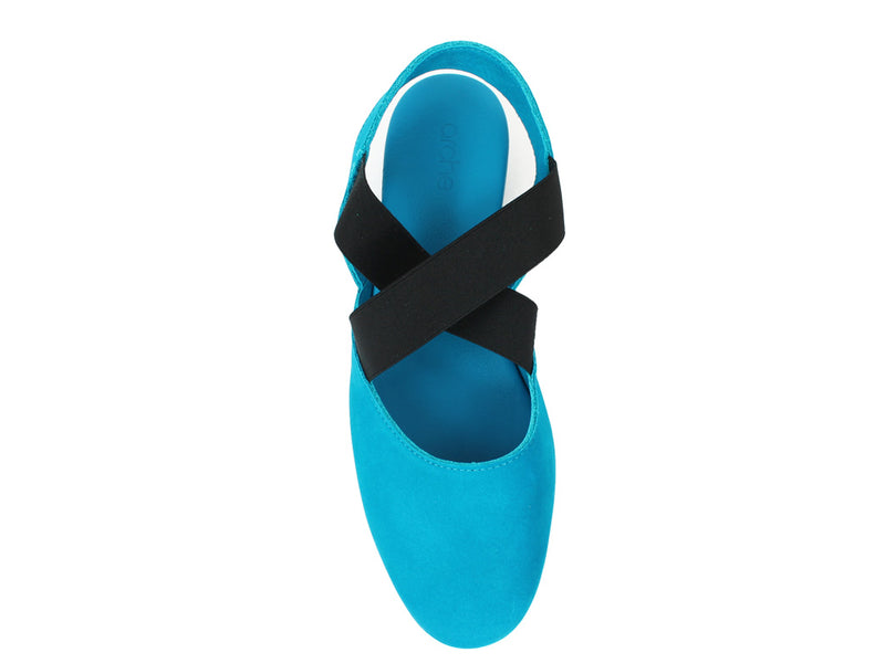 Arche Women Sandals Labana Nayati Blue top view
