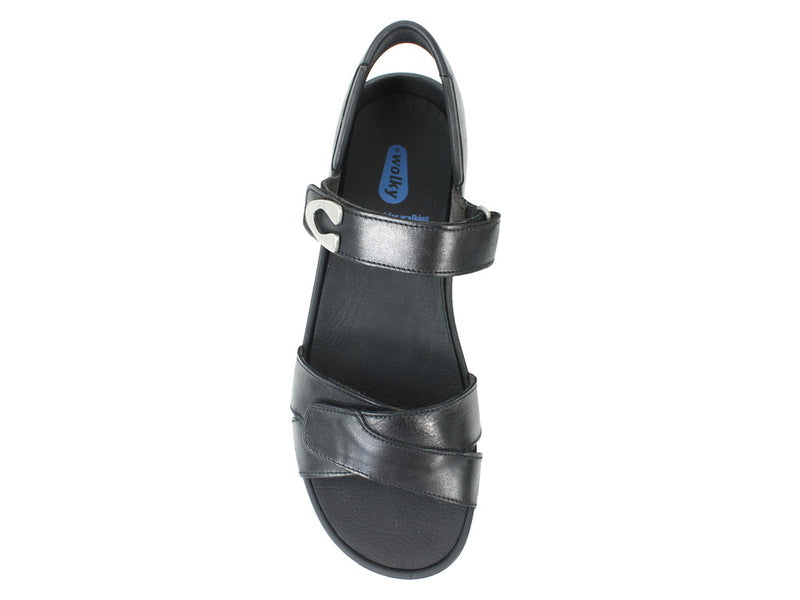 Wolky Women Sandals Epoch Black top view