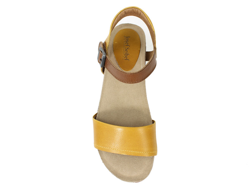 Josef Seibel Sandals Clea 01 Gelb Yellow top view