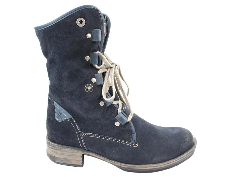 Josef Seibel Boots Sandra 04 Denim side view top up