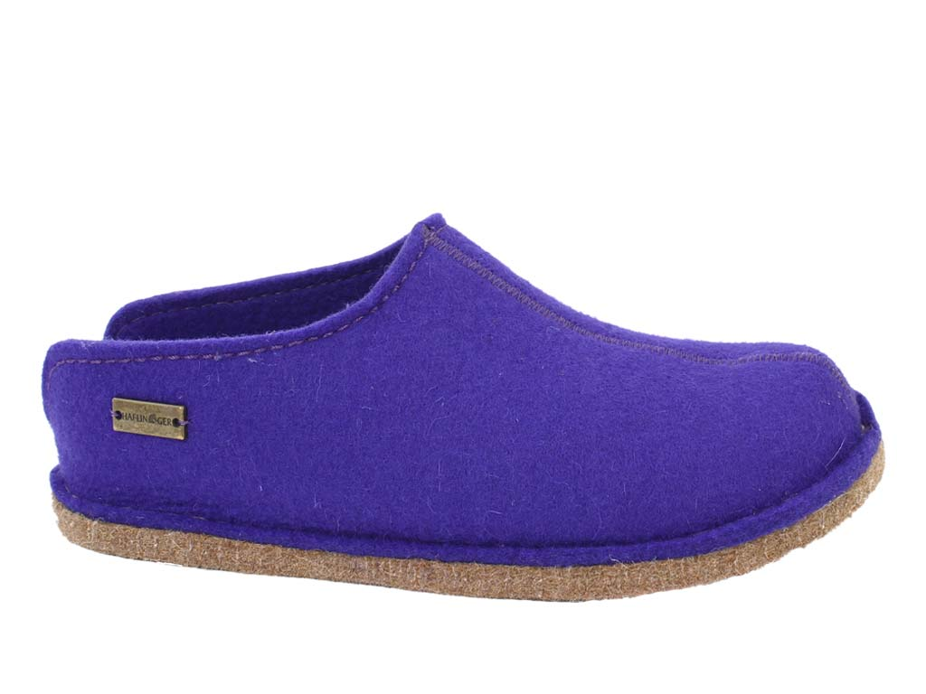 Haflinger Slippers Smily Violet side view