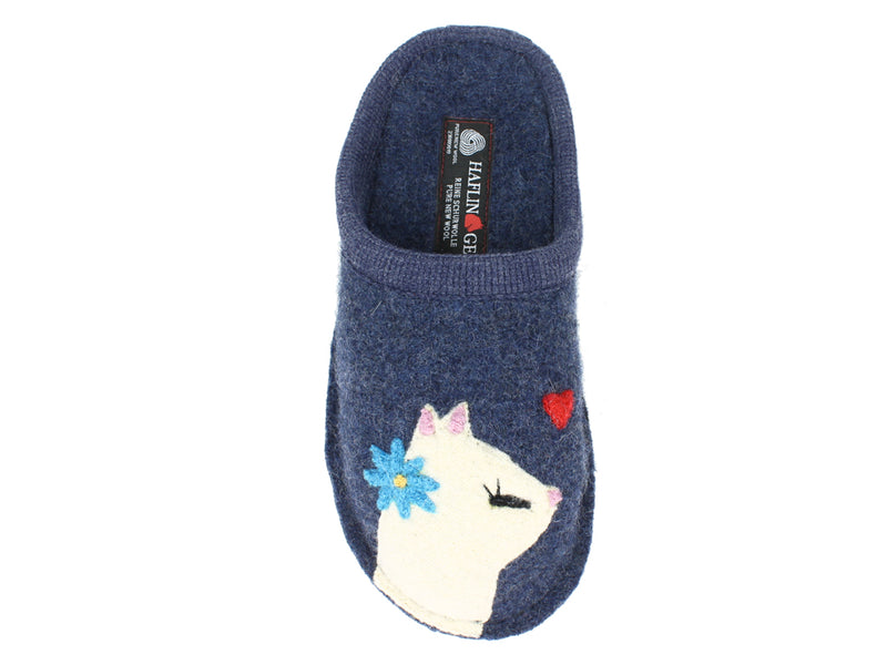Haflinger Slippers Flair Cats Love Jeans right foot