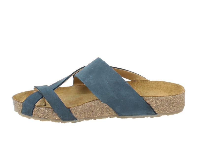 Haflinger Sandals Jacks Navy side view