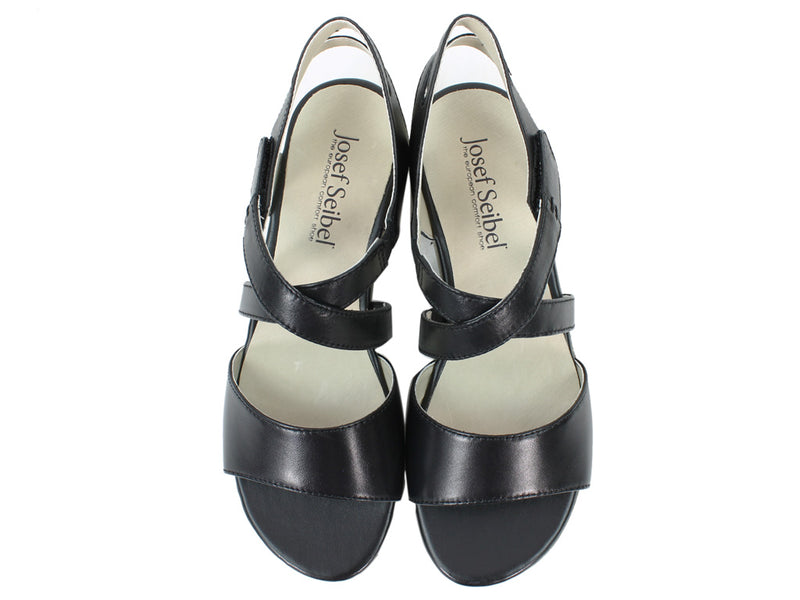Josef Seibel Women Sandals Fabia 17 Black upper view